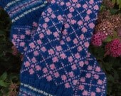 Finely Hand Knitted Estonian Mittens in Pink - warm and windproof