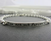 Silver Bar Bracelet Personalized Name Plate Bracelet, Sterling Silver, Silver Name Bracelet, Personalized Jewelry, Hand Stamped Jewelry Gift