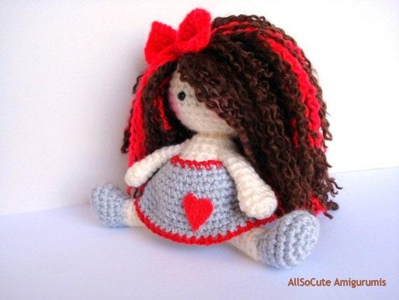 Amigurumi Girl Tutorial : Crochet Pattern, Amigurumi Doll Pattern, Amigurumi Girl ...