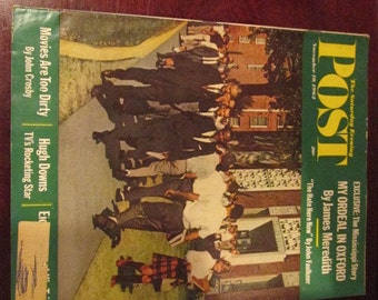 Collectible Saturday Evening Post Magazine November 10, 1962 The Mississippi Story James Meredith Cover Very Good Condition Great Ads