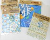 Vintage Hallmark gift wrap Hallmark mini readywrap Hallmark readywrap 3 designs vintage gift wrap 1980's giftwrap new old stock