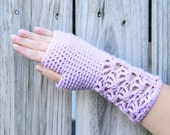 INSTANT DOWNLOAD Lacy Fingerless Gloves and Matching Infinity Scarf