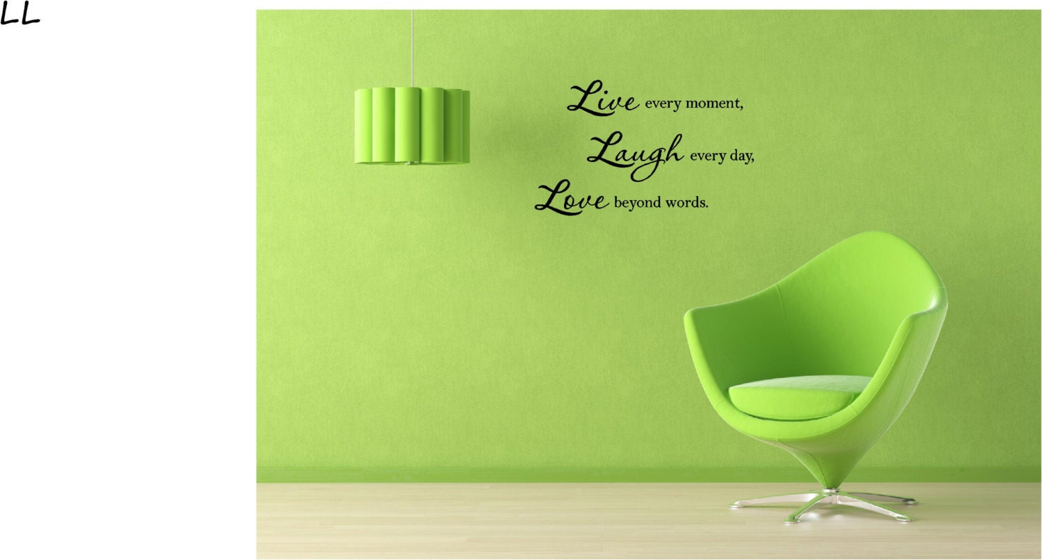 Beyond Words Customizable Wall Decor Kohls : Live every moment laugh day love beyond words wall art