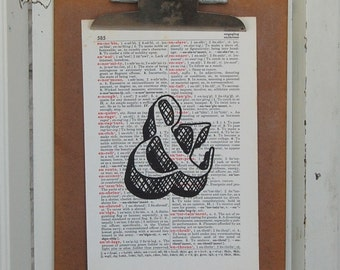 Decorative Ampersand on Vintage Book Page