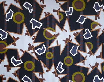 Nathalie du Pasquier original ZAMBIA (Black) Fabric for MEMPHIS 1982