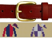 Horse Racing Silks Needlepoint Belt Canvas