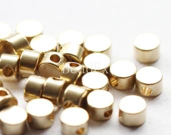 30pcs / Spacer / Raw Brass / 4x2.5mm (C493//P211)