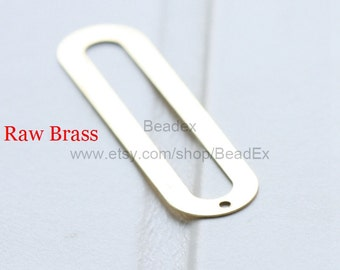 20 Pieces / Raw Brass / Pendant / Charm / Earring Component / 46x11mm (C1923//S167)