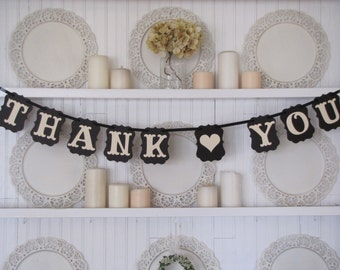 THANK YOU Banner, Wedding Banner, Wedding Thank You Sign, Wedding Decoration, Wedding Sign, Wedding Photo Prop