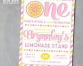 Lemonade Invitation, Lemonade Birthday Party Pink Lemonade Invite, Lemon Invitation, Lemonade Stand, Girl Birthday, Printable Invitation