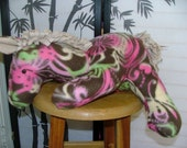 Trot - Floral, comfy, cute, fleece horse stuffed animal doll toy- Large