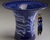 Royal Blue with White Icing earring holder
