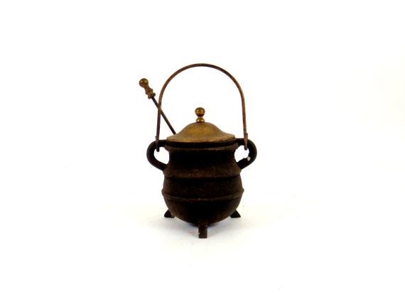cast iron pot fireplace starter antique pot