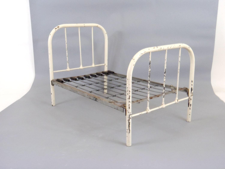 Antique Bed Frame 1920s Metal Bed Miniature Bed Salesman