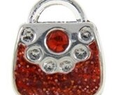 Red Rhinestone Charm*January Birthstone*