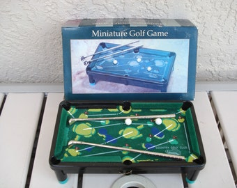 Miniature GOLF POOL Desk Top Game