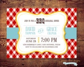 Printable BBQ Rehearsal Dinner or Couples Shower Invitation or any occasion (digital file) DIY Printing at home or your choice of printer