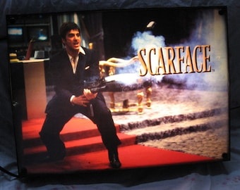 Scarface lighted sign, Man cave must have   Stand up or wall hanger   Man Cave