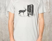 Devious Forest Animals & Vending Machine - Men's Graphic T-Shirt - American Apparel -  Available in S, M, L, XL and XXL