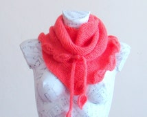 Hand knitted mohair baktus leaf scarf scarves for winter handmade scarves triangle scarf neck scarves beautiful scarves scarf for women etsy