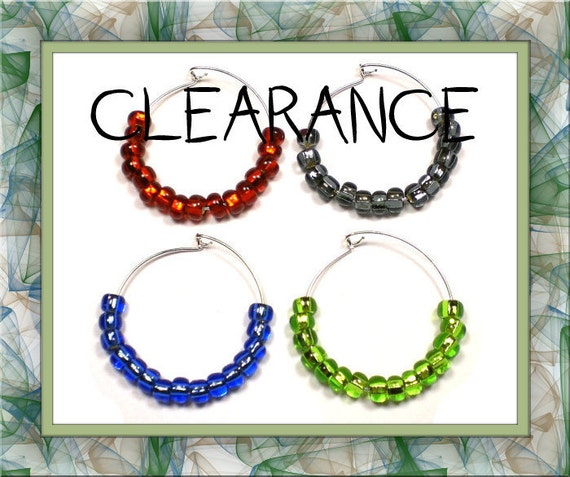 DOLLAR SALE! Bold & Sassy Wine Charms 4-Piece Set