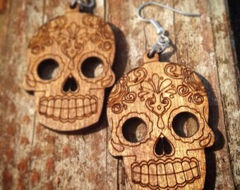 Mexican Sugar Skull - Day of the dead - Earrings