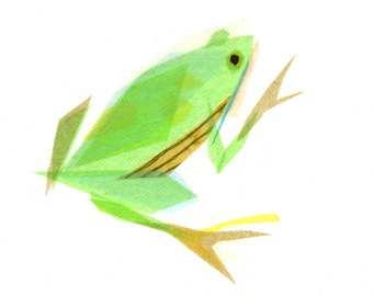 Theodore Frog - Animal Art Print