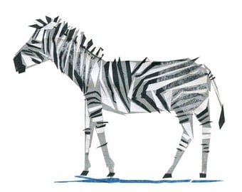 Zeb Zebra - Animal Art Print