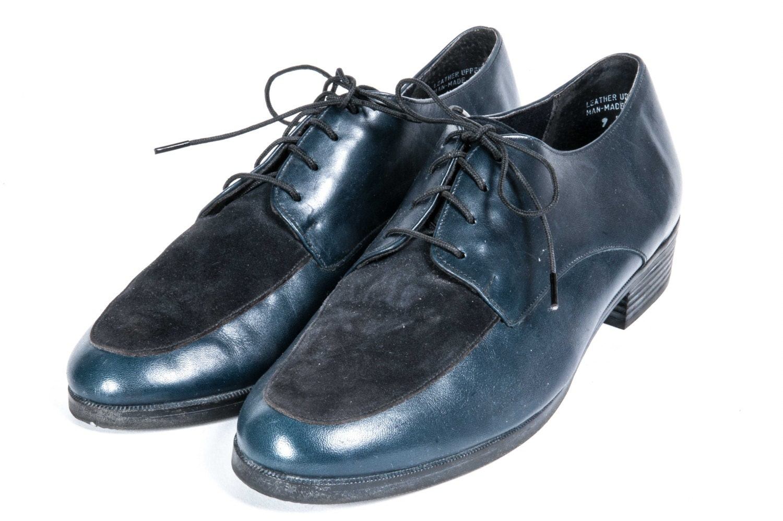 MUNRO SPORT Blue U0026 Black Oxford Shoe Womens Size 9