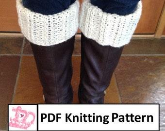 2x2 Twisted Rib Boot Cuffs - PDF KNITTING PATTERN