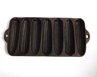 Vintage Wagner Ware Pan - Corn Stick Pan - Cast Iron Cornbread Pan - Vintage Cast Iron