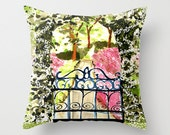 Indoor Pillow Cover, the secret garden gate