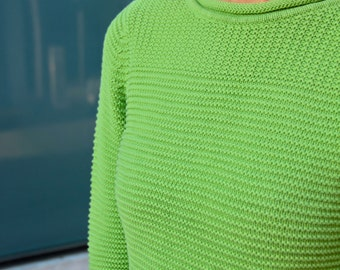 90's Crop Lime Green Sweater