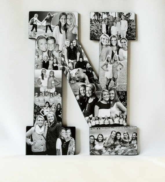 custom photo letter collage any letter of the alphabet photo collage photomontage