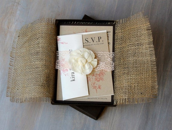 like this item - Burlap Wedding Invitations