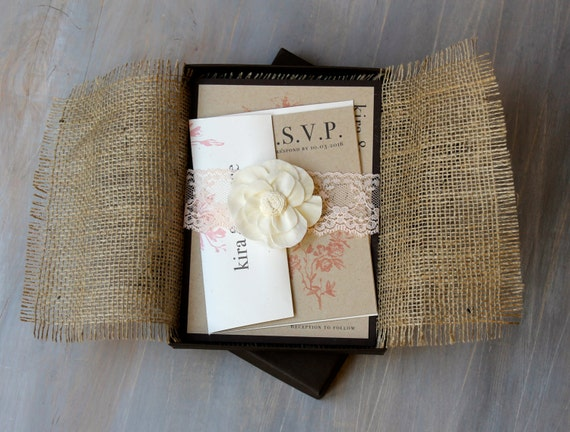 Lace And Burlap Wedding Invitations is an amazing ideas you had to choose for invitation design