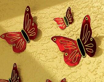 Butterfly Metal Art Mural Metal Wall Art Sculpture Outdoor Decor Butterflies Art