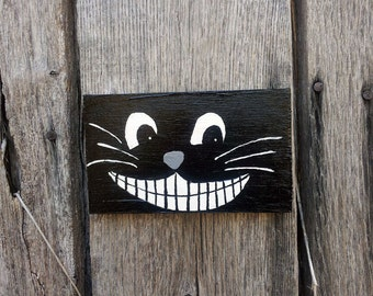 Whimsical Grinning Cat Painting