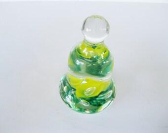 Joe St. Clair Art Glass Bell Paperweight Vintage