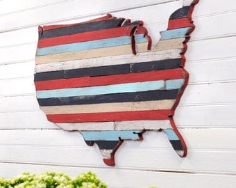 USA Pallet Map Wooden Pallet Wall Art United State Large Map Pallet Art