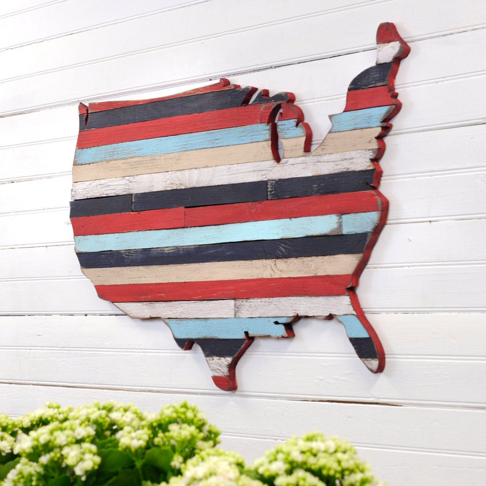 USA Pallet Map Wooden Pallet Wall Art United State Large Map
