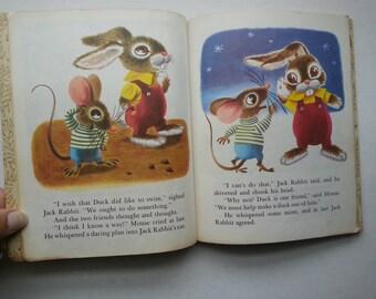 vintage Little Golden Book . Duck and his Friends . vintage Richard Scarry illustrations - vintage children's books . vintage children's art