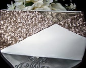 Ivory & Gold Sequin Bridal Clutch Purse / Art Deco Gatsby Wedding / Gold Wedding Dress Accessory
