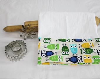 Owls Flour Sack Kitchen Towel