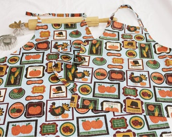 Thanksgiving Themed Mother Daughter Aprons