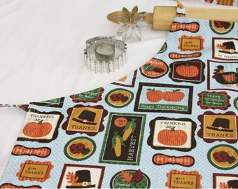 Thanksgiving Themed Adult Apron