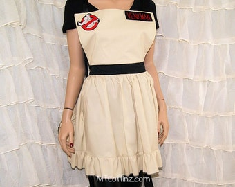 Inspired By Ghostbusters Embroidered Name Tag Cosplay Kitchen Apron MTCoffinz