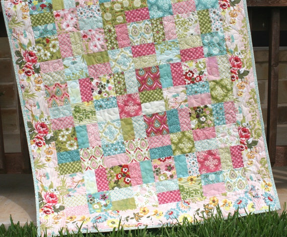 layer cake quilt pattern shabby chic charm pack moda
