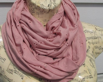 Original infinity scarf // One Of a Kind //jersey Fabric// Spring