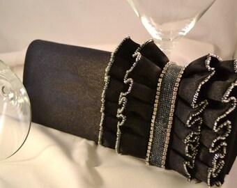 Elegant Evening Clutch Formal Handbag Crystal and Bead Embellished Bag Womens Birthday or Anniversary Gifts
